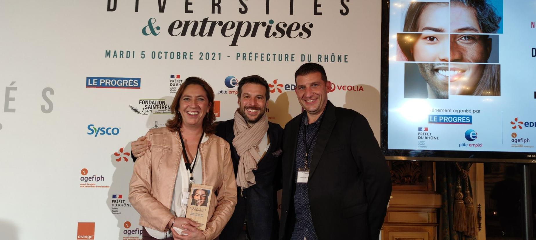 Remise du trophée de l'insertion en entreprise par le célèbre cuisinier Grégory Cuilleron 💥 !